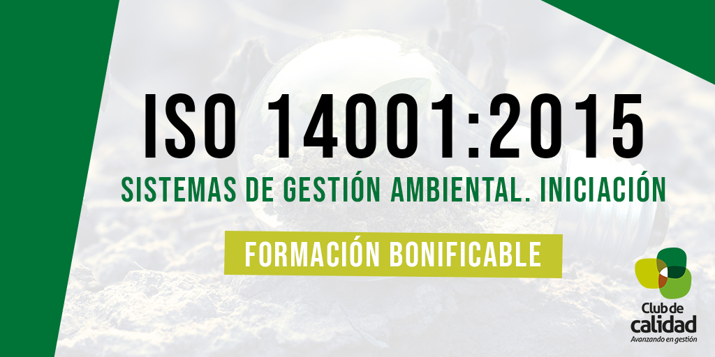 Formación ISO 14001:2015. Iniciación