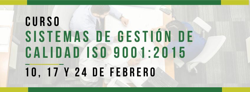 Curso Sistemas de Gestión de Calidad ISO 9001:2015 - Asturias