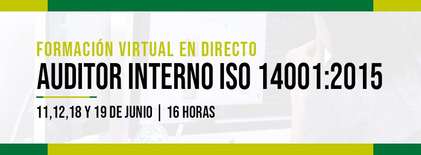 Formación Virtual en Directo: auditor interno ISO 14001:2015