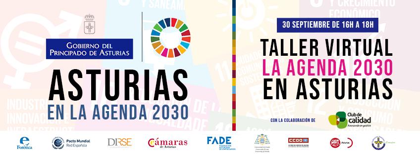 Taller virtual: La Agenda 2030 en Asturias 30 septiembre