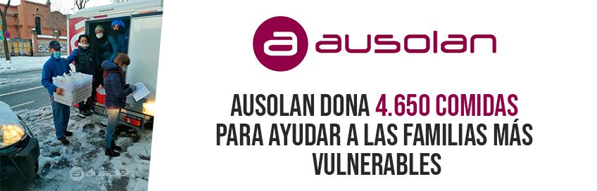 Ausolan dona 4.650 comidas para ayudar a las familias más vulnerables
