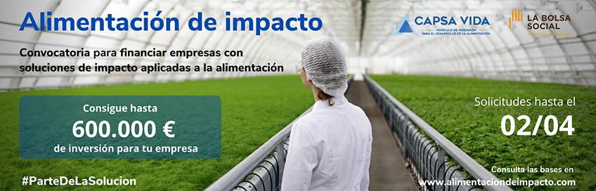 CAPSA VIDA se une a la Bolsa Social para financiar empresas que promuevan una alimentación más sostenible.