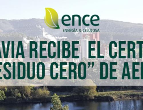 """Ence Navia recibe el certificado """"Residuo Cero"""" de AENOR"""