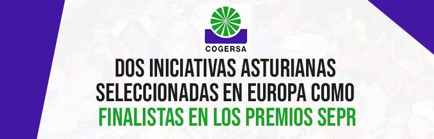 Dos iniciativas asturianas, seleccionadas en Europa como finalistas en los premios SEPR