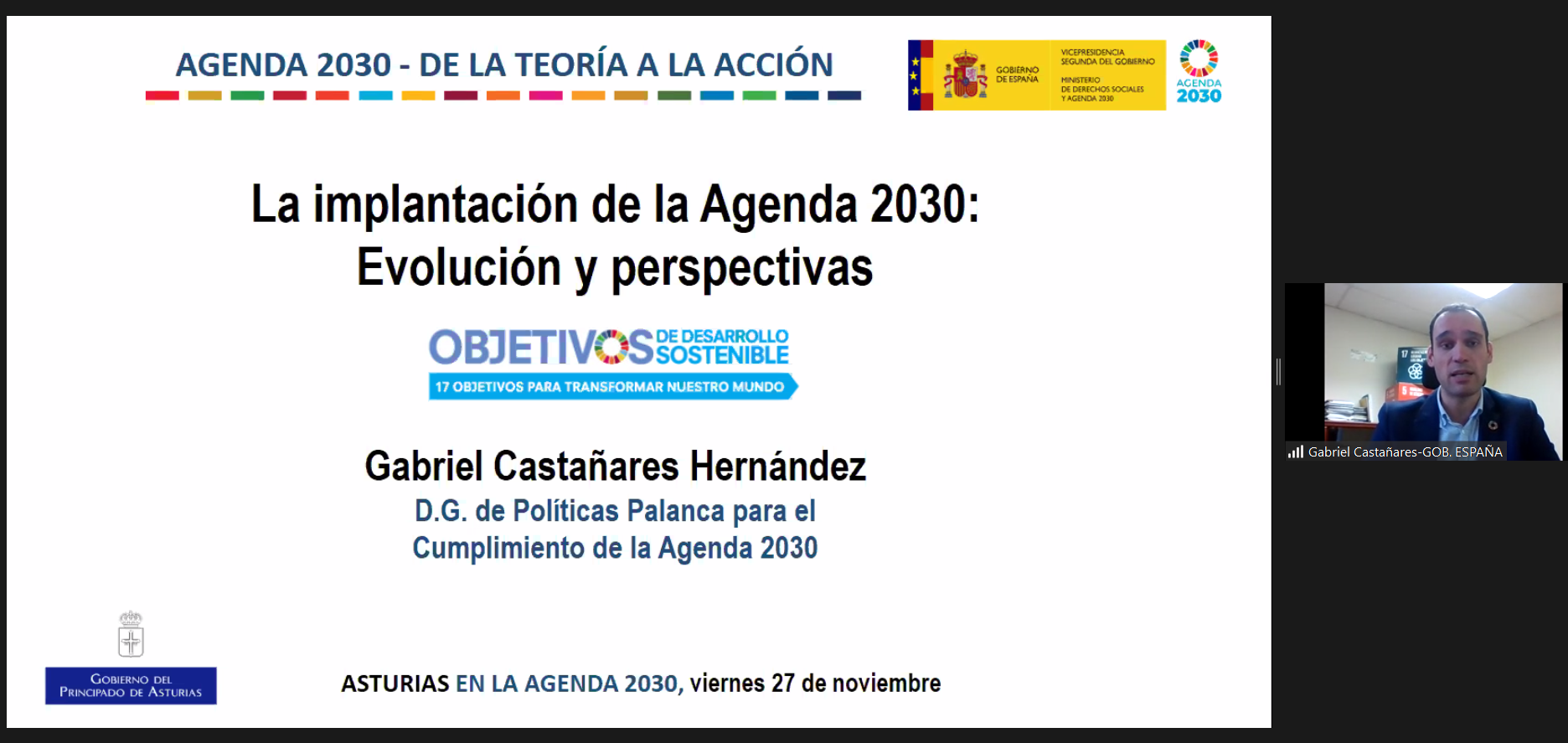 Jornada final: ASTURIAS EN LA AGENDA 2030: DE LA TEORÍA A LA ACCIÓN