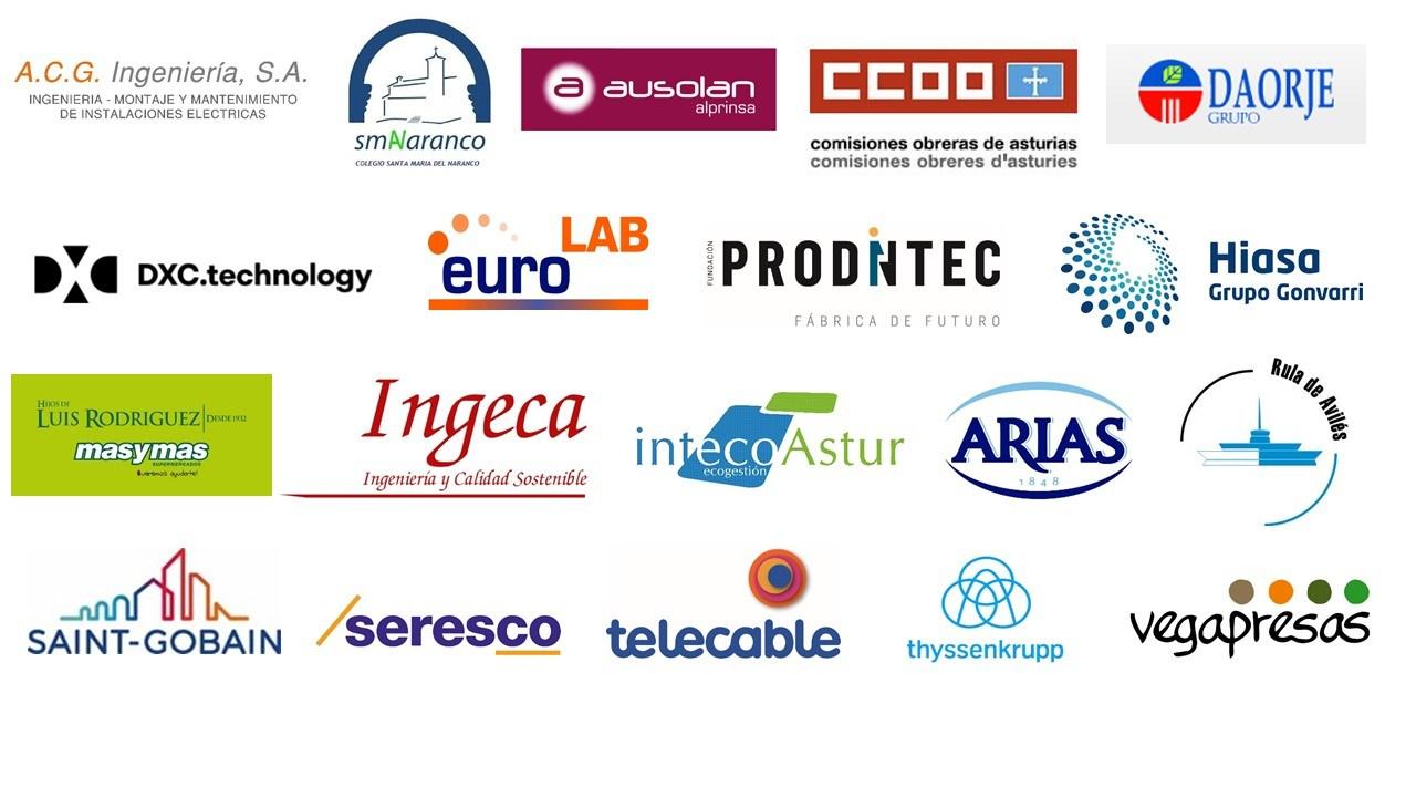 Miembros de la Red de Empresas Saludables de Asturias 2017