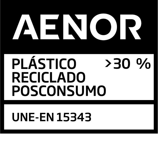 Sello Aenor Plástico Reciclado Posconsumo