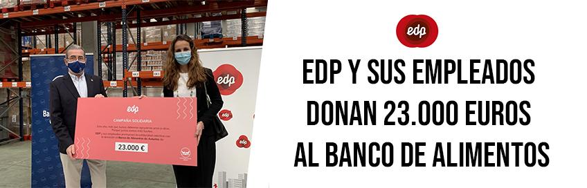 EDP y sus empleados donan 23.000 euros al Banco de Alimentos