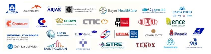 Empresas colaboradoras del Máster en Dirección de Operaciones y Lean Seis Sigma (Green belt)