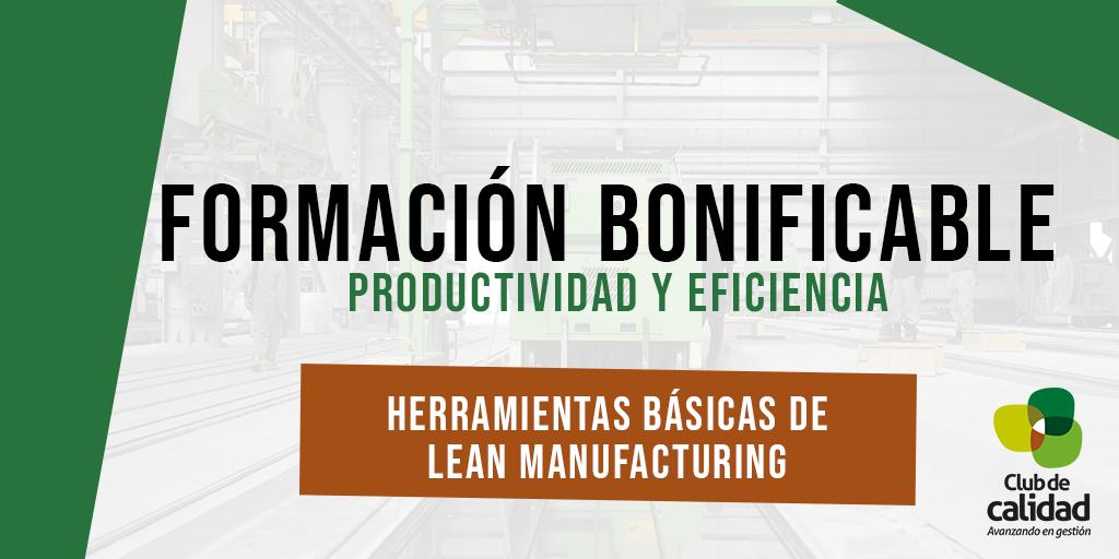 Formación productividad: herramientas básicas de Lean Manufacturing