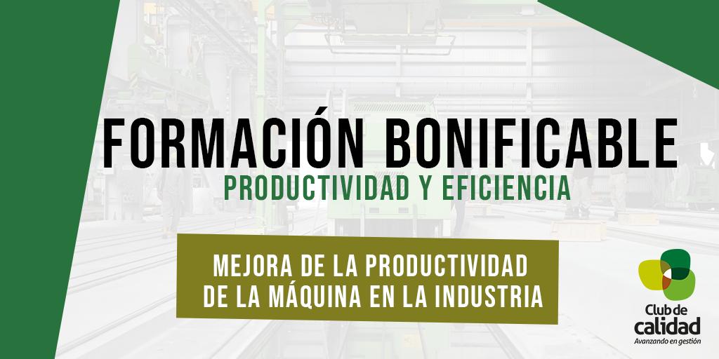 Formación productividad de la máquina en la industria