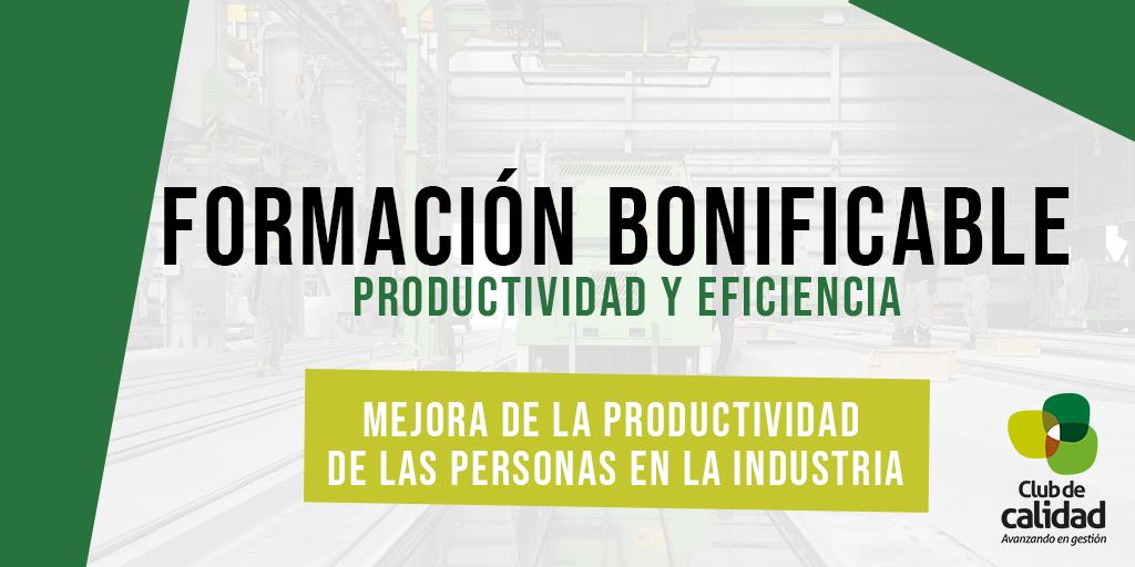 Formación productividad de las personas en la industria