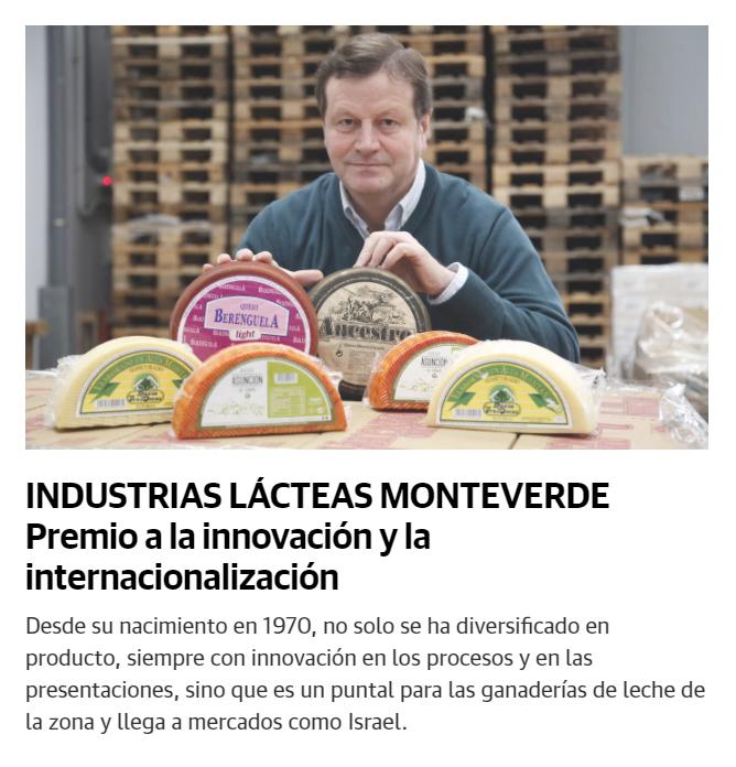 Industrias Lácteas Monteverde premio a la innovación