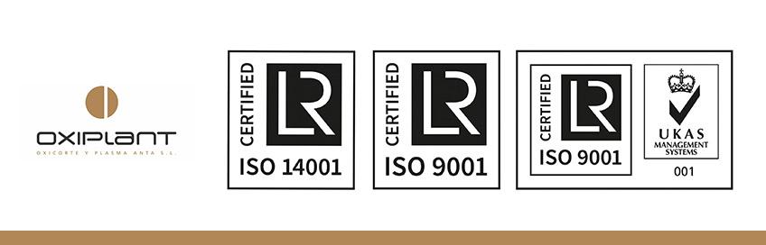 Certificaciones oxiplant