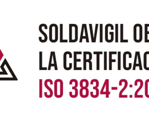 Soldavigil obtiene la certificación ISO 3834-2:2006