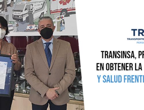 """TRANSINSA, primera empresa del mundo en obtener la certificación de """"Seguridad y Salud frente al COVID-19 en el Trabajo"""" de AENOR"""
